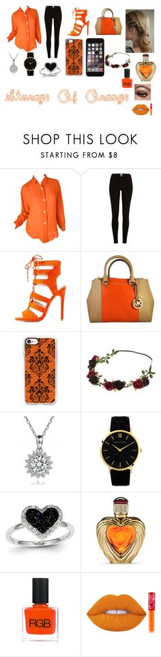 """""""Storage Of Orange"""" by javeria2931 ❤ liked on Polyvore featuring Todd Oldham, Qupid, MICHAEL Michael Kors, Casetify, Kevin Jewelers, Victoria's Secret, RGB Cosmetics and Lime Crime"""