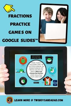 Whether in a virtual or distance learning setting or for in-person instruction, students can play these Google Slides self-checking games to identify, compare and find equivalent fractions. This activity is appropriate for 3rd and 4th-grade students who need to practice with fractions and get immediate feedback through self-checking slides that provide students with fraction practice using area models, length models, and number lines models. Discover and learn more! #twoboysandadad Finding Equivalent Fractions, Comparing Fractions, Teaching Fractions, Teaching Math, Math Tips, Math Strategies, Teaching Resources, Math Teacher, Math Classroom