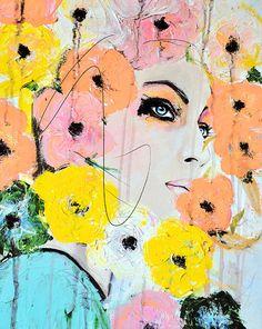 Törmäävät - Muoti, kauneus, Mixed Media Painting Taidevedos tekijänä Leigh Viner