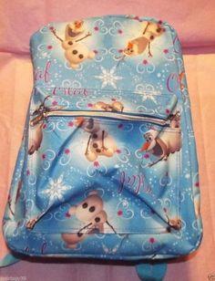 "Disney Frozen Full Print BLUE OLAF 16"" School Backpack PC LAPTOP book bag NWT #Disney"