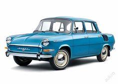 Retro cedule Škoda 1000MB rok 1966 Retro Cars, Vintage Cars, Vintage Auto, Europe Car, Small Cars, Car Humor, Car Photos, Car Car, Old Cars