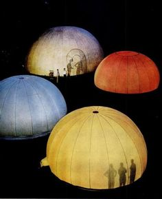 Nylon airhouses from Life magazine, November 1957.