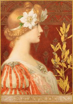 Elisabeth Sonrel (French, Watercolor heightened with gold and gouache. Sonrel studied in Paris under Jules Lefebvre at the Ecole des Beaux-Arts. Her signature pieces are large, bright watercolors and gouaches inspired by. Old Paintings, Beautiful Paintings, Art Nouveau, Pre Raphaelite Paintings, Art Français, Templer, Art Vintage, Classical Art, Renaissance Art