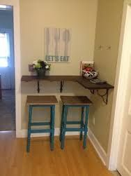 Cup Half Full: Rustic Wood Shelf DIY [using Ikea EKBY LERBERG brackets painted gold, and gray stained shelves] | See more about Wood Shelves, Ikea and ... -Google Search