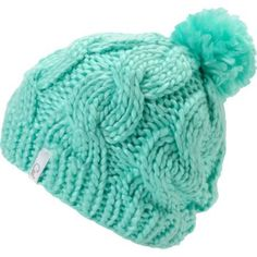 new styles cee15 d1dfe Minty fresh and just for you, Coal brings us the Rosa Mint Pom beanie for  girls. This super soft and cozy knit beanie that features a vibrant mint  green ...