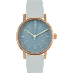 VOID WATCHES V03D Watch - Navy Dial/Copper Case/Grey Leather Strap