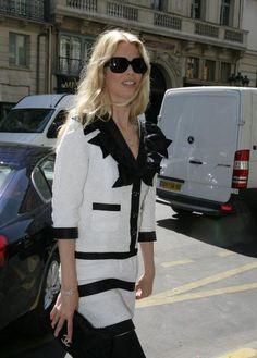 white with black trim, wide black collar?