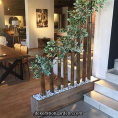 110 Modelos de Artesanato Com Bambu Para Decorar sua Casa Living Room Partition Design, Room Partition Designs, Wood Partition, Indian Home Interior, Home Interior Design, Diy Garden Decor, Diy Home Decor, Bamboo Crafts, House Plants Decor