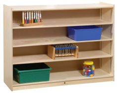 Mobile Adjustable Shelf Storage Unit by Steffy Wood Products. $336.00. Mobile for Easy Classroom Placement!. 4 Shelves In All with 3 Adjustable!. Constructed of Tough 11-Ply Laminated Birch Wood!. Lifetime Warranty Against Defects and Workmanship!. Coated with a Non-Toxic Tough Clear Finish!. SWP1116 Features: -Three adjustable shelves.-Birch veneer panels with recessed back panels. Color/Finish: -Non-toxic environmentally safe clear finish. Dimensions: -Overall Dimens...