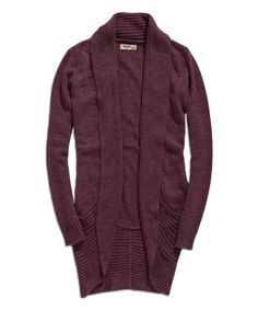 Love this Violet Ribbed Open Cardigan on #zulily! #zulilyfinds