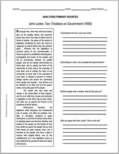 Worksheets Graphic Sources Worksheets 1000 images about social studies on pinterest primary sources john locke enlightenment two treatises government source worksheet for grades 9