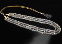 550.00 Carats  Genuine 3 Line Labradorite Beads Necklace  FASHION ACCESSORY FROM JEWELERY-AUCTIONED.COM