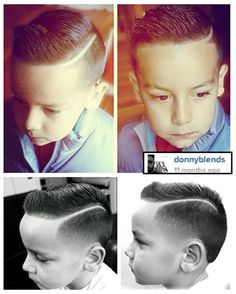 We suppose being the son of a barber who does rad fade work is pretty cool! Donny's son picked out this look, and his dad def has the skills to provide! Must see Donny Blends fade work! Kids Cuts, Boy Cuts, Men's Cuts, Little Boy Hairstyles, Barbers Cut, Look Man, Haircuts For Men, Military Haircuts, Hair Dos