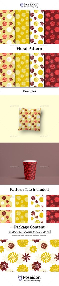 Floral Pattern - #Patterns #Backgrounds Download here:  https://graphicriver.net/item/floral-pattern/20014393?ref=alena994