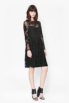 french connection, Socoro Sequins Semi-Sheer Dress