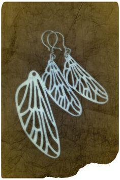 Horsefly Wing silver necklace & earrings - made by Tytti Bräysy
