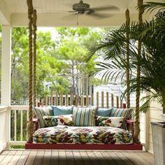 Singing bench on porch