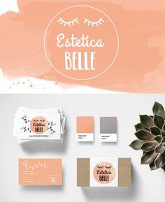 Logo and Business Card Design | Estetica Belle by Ink + Honey Design Co.