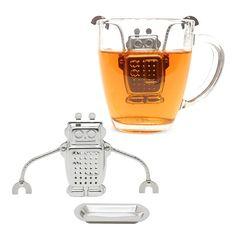 Robot Tea Infuser & Tray | GEEKYGET