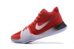Nike Kyrie 3 Negro  Oscuro Total De Crimson Gris Oscuro  Blanco Hombres Basketball d4e1df