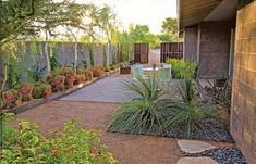Easy Desert Landscaping Tips That Will Help You Design A Beautiful Yard Desert Landscaping Backyard, Landscaping With Rocks, Modern Landscaping, Arizona Landscaping, Landscaping Ideas, Modern Patio, Backyard Patio, Patio Ideas, Yard Ideas