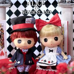"Korean Doll ""Alice and Mad Hatter"" DDUNG Couple Collector's Item"