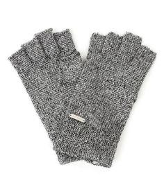 Loving this Black Metallurgy Knit Fingerless Gloves on #zulily! #zulilyfinds