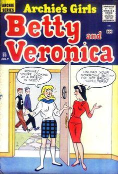 Archie's Girls Betty and Veronica 55, Archie Comic Publications, Inc. https://www.pinterest.com/citygirlpideas/archie-comics/