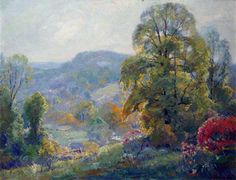 "Manchester University art collection - ""Landscape of Southern Indiana"" Carl C Graf"