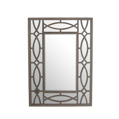 Bring life to your wall with this Privilege beveled wodden wall mirror. You'll love the instant elegance this decorative piece adds to your home decor.