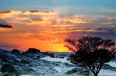 Sunset in the Nubian Desert, Northern Sudan  غروب الشمس في صحراء النوبة، شمال السودان  (By Guido Aldi)   #sudan #nubian #desert #sunset