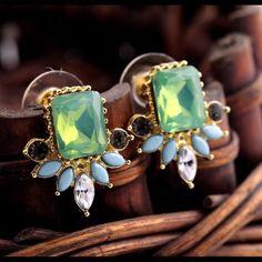 NEW gemstone earrings Cute❤️❤️❤️ Jewelry Earrings