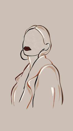 Art Sketches, Art Drawings, Wall Drawing, Grafic Art, Abstract Face Art, Outline Art, Minimalist Art, Aesthetic Art, Cream Aesthetic