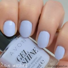 NOTD: Avon Gel Shine – Rain Washed swatches and review via @beautybymissl