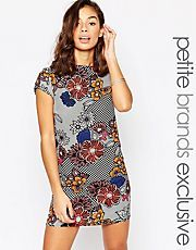 Glamorous Petite Cap Sleeve Floral Print Shift Dress