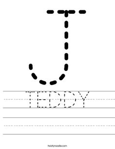 Customizable Letter Tracing Worksheet from TwistyNoodle.com