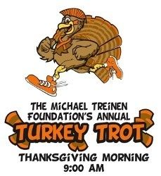 The Michael Treinen Foundation 6th Annual Turkey Trot registration information at GetMeRegistered.com