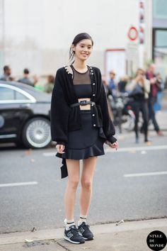 Ming Xi Street Style Street Fashion Streetsnaps by STYLEDUMONDE Street Style Fashion Blog  #streetstyle #style #fashion