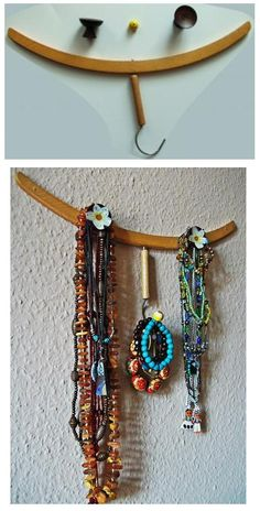 Wooden Hanger Jewelry Holder - from: roadkillrescue