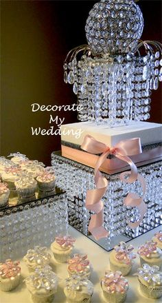 The Crystal Cutting Cake  – Madison – DECORATE MY WEDDING
