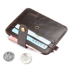 Thin man purse short retro multi card wallet card wallet