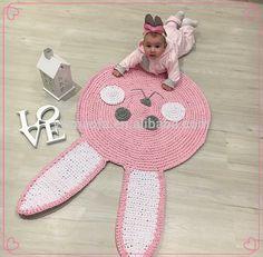 2017 Moda Bebê Bonito Padrão de Coelho Rosa de Crochê Tapete Esteira do Jogo Suave Quarto Coxim Do Assoalho-imagem-Cobertores-ID do produto:60627521192-portuguese.alibaba.com