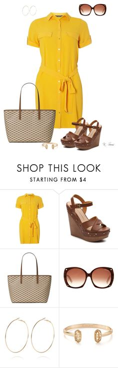 """""""Yellow"""" by ksims-1 ❤ liked on Polyvore featuring Dorothy Perkins, Chinese Laundry, Michael Kors, Tom Ford, River Island and Kendra Scott"""