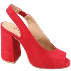 Ladies Open Toe Heel Red   Buy Online in South Africa   takealot.com South Africa, Open Toe, Lady, Heels, Stuff To Buy, Fashion, Heel, Moda, Fashion Styles