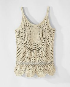 Hand-Crocheted Tank Top