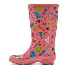 Girls' Gilmore Printed Rain Boots Cat & Jack - 1, Multicolored