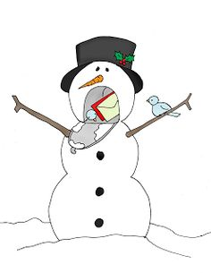 Put Snowman Arms up to face surprise look on Snowman's face ~~Free ...