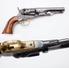 COLT MODEL1862 POLICE REVOLVER: This engraved revolver was made around 1864 and features a half-fluted cylinder.