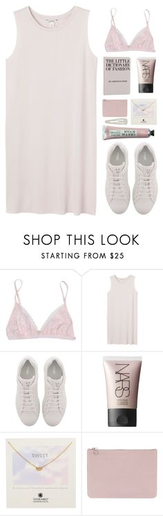 """""""monochromatic"""" by amazing-abby ❤ liked on Polyvore featuring La Perla, Monki, Fendi, NARS Cosmetics, Dogeared, Alexander McQueen and Forever 21"""