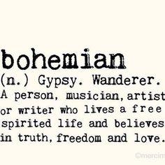 BOHEMIAN defined
